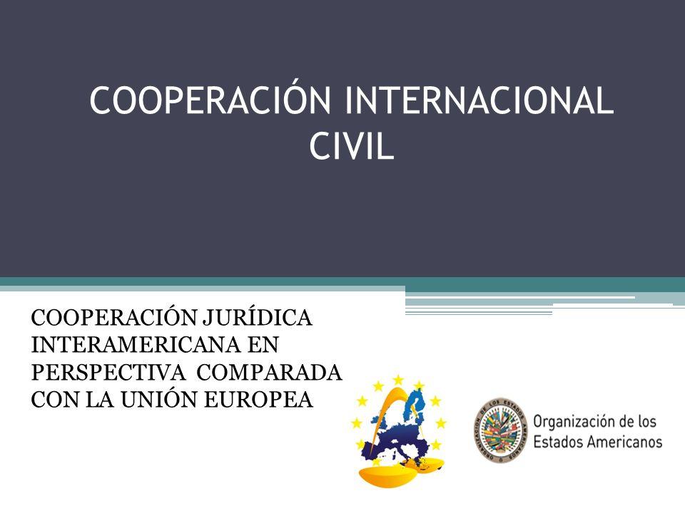 COOPERACIÓN INTERNACIONAL CIVIL COOPERACIÓN JURÍDICA INTERAMERICANA EN PERSPECTIVA COMPARADA CON LA UNIÓN EUROPEA