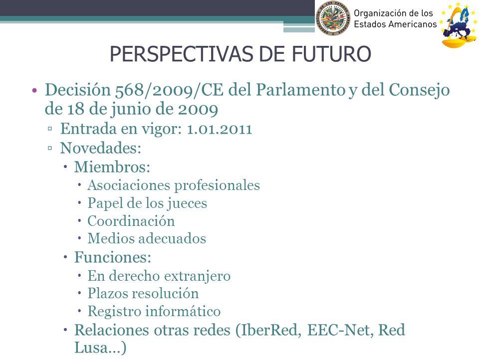 Decisión 568/2009/CE del Parlamento y del Consejo de 18 de junio de 2009 Entrada en vigor: 1.01.2011 Novedades: Miembros: Asociaciones profesionales P