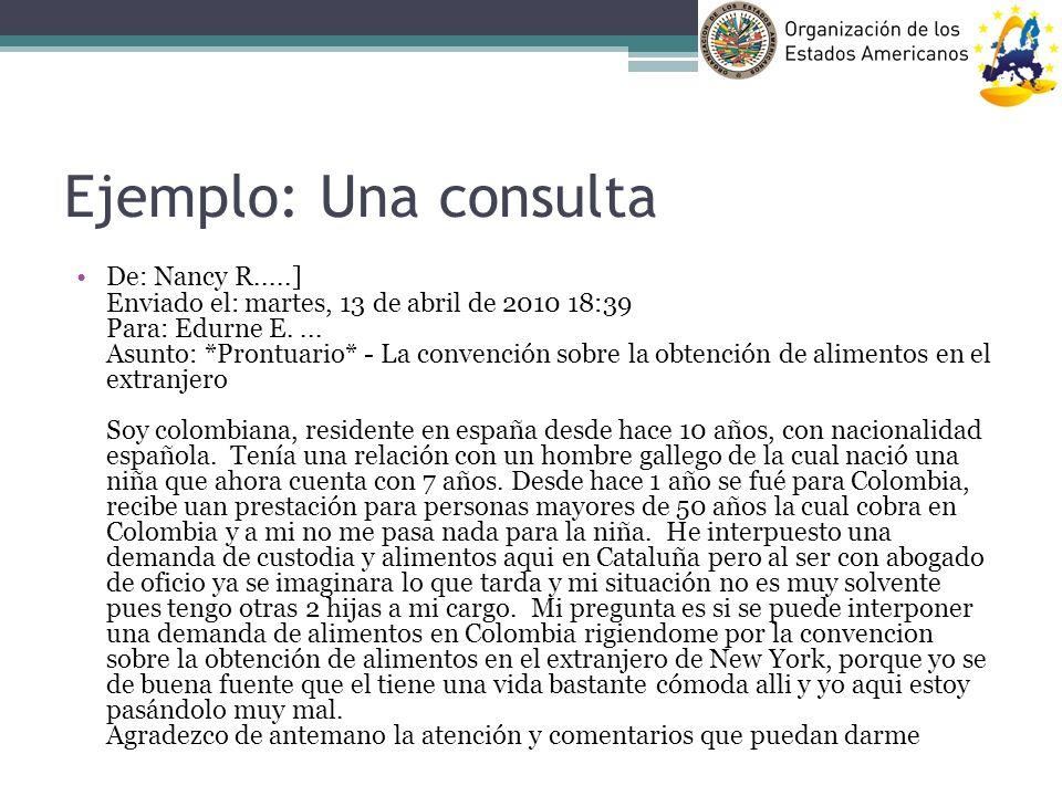 Ejemplo: Una consulta De: Nancy R.....] Enviado el: martes, 13 de abril de 2010 18:39 Para: Edurne E.... Asunto: *Prontuario* - La convención sobre la