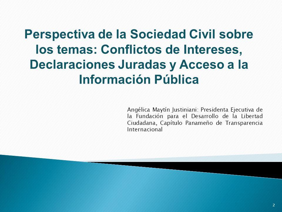 CONFLICTOS DE INTERESES NORMAS DE CONDUCTA Y MECANISMOS PARA HACER EFECTIVO SU CUMPLIMIENTO (ARTÍCULO III, PÁRRAFO 1 Y 2 DE LA CONVENCIÓN).