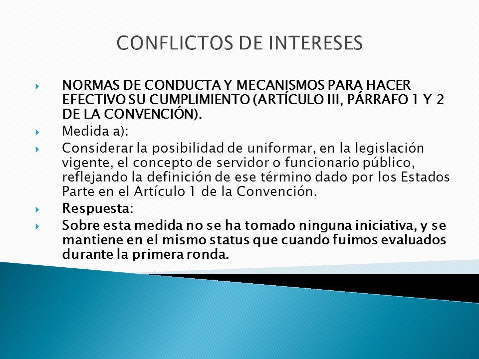 ACCESO A LA INFORMACIÓN Medida c): Considerar la revisión de la disposición del artículo 5 del Decreto Ejecutivo No.