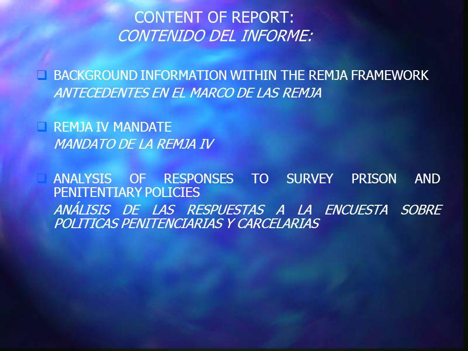 INFORMATION EXCHANGE NETWORK RED DE INTERCAMBIO DE INFORMACION Systems governing penitentiary and prison employees: Régimen de los empleados de los sistemas penitenciarios o carcelarios: (14) (6)