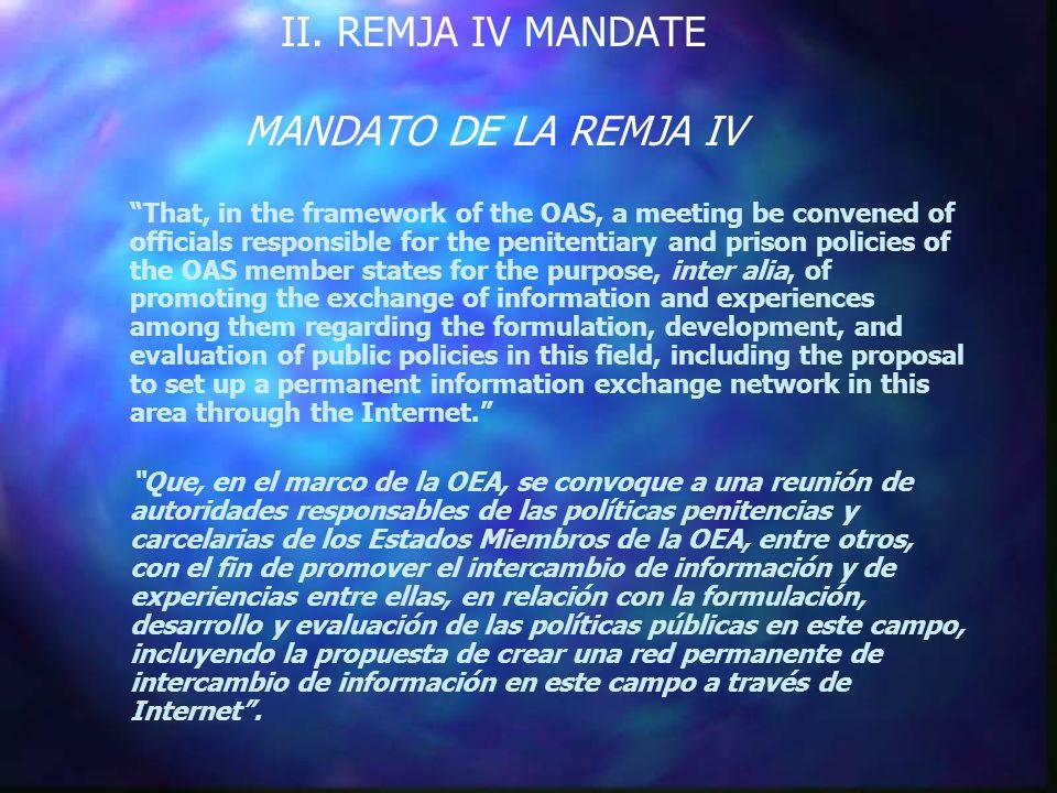 INFORMATION EXCHANGE NETWORK RED DE INTERCAMBIO DE INFORMACION Statistics on the penitentiary and prison population: Estadísticas sobre la población penitenciaria y carcelaria: (18) (2)