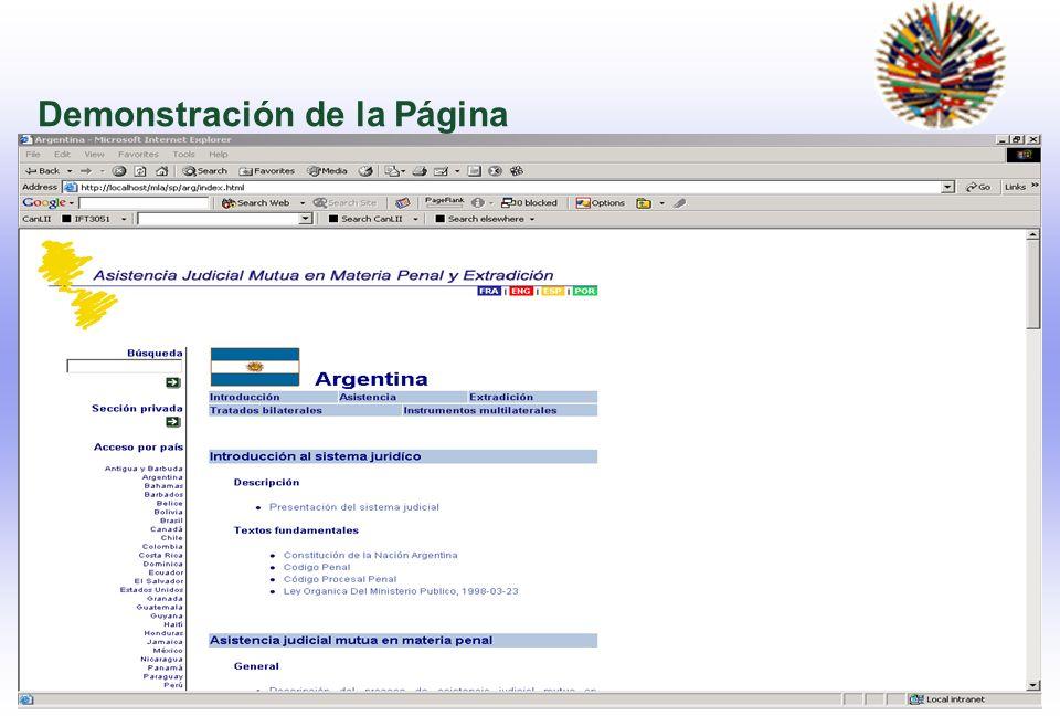Demonstración de la Página