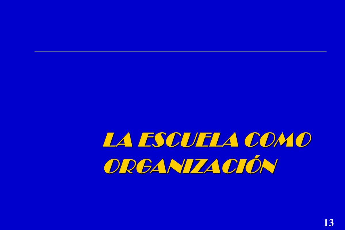 LA ESCUELA COMO ORGANIZACIÓN 13