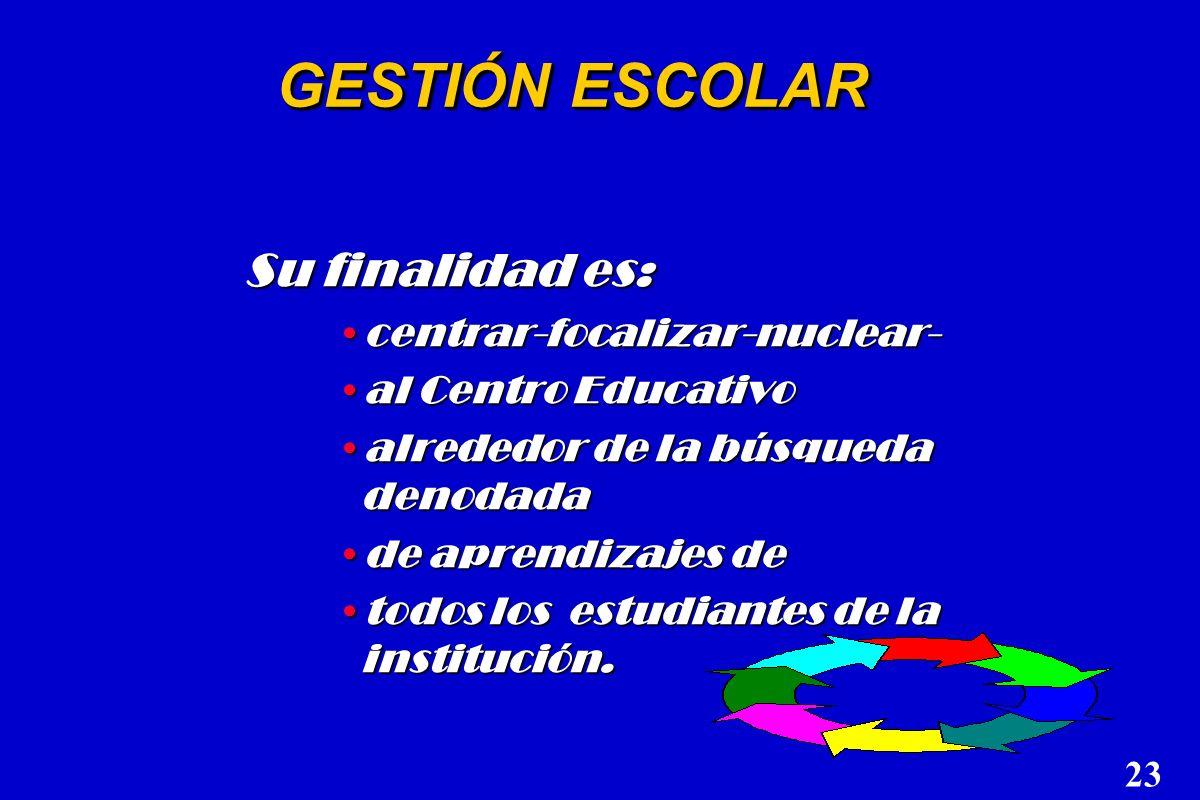 GESTIÓN EDUCATIVA n La toma de decisiones a nivel macro sobre la educación de un país, o una provincia, Incluye orientaciones fundamentales, así como