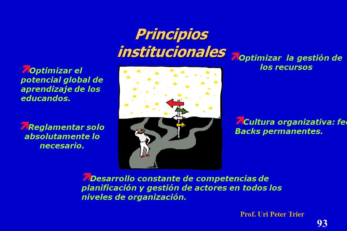 Principios de acción pedagógica Objetivo principal: Objetivo principal: construir la competencia de aprender Planificación del propio aprendizaje Plan
