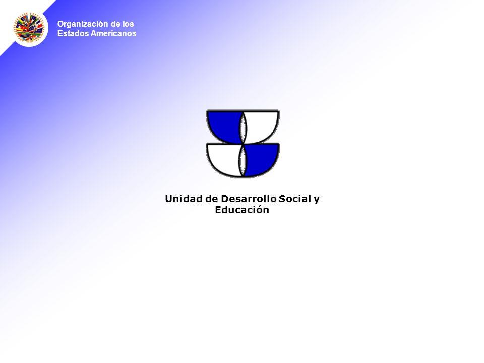 Organización de los Estados Americanos Unidad de Desarrollo Social y Educación