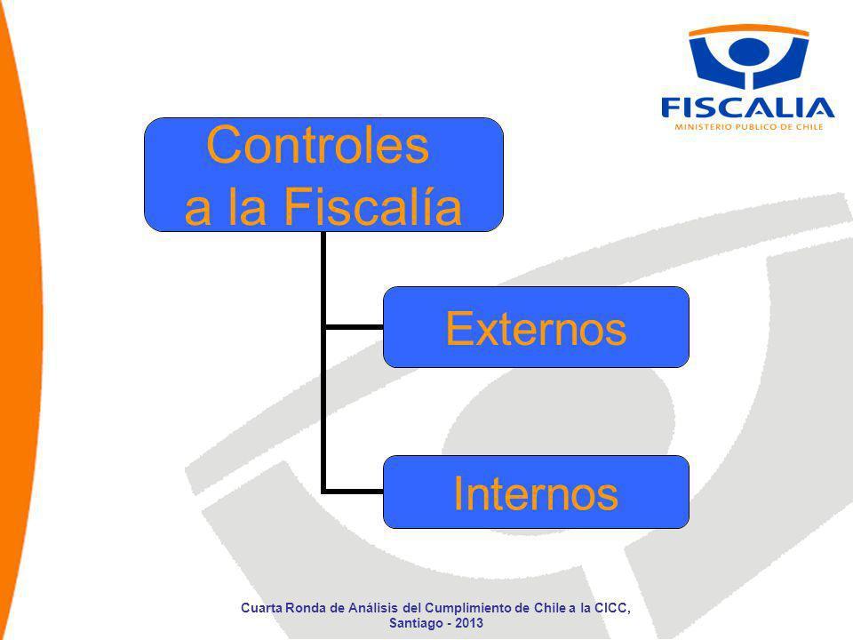 Controles a la Fiscalía Externos Internos Cuarta Ronda de Análisis del Cumplimiento de Chile a la CICC, Santiago - 2013