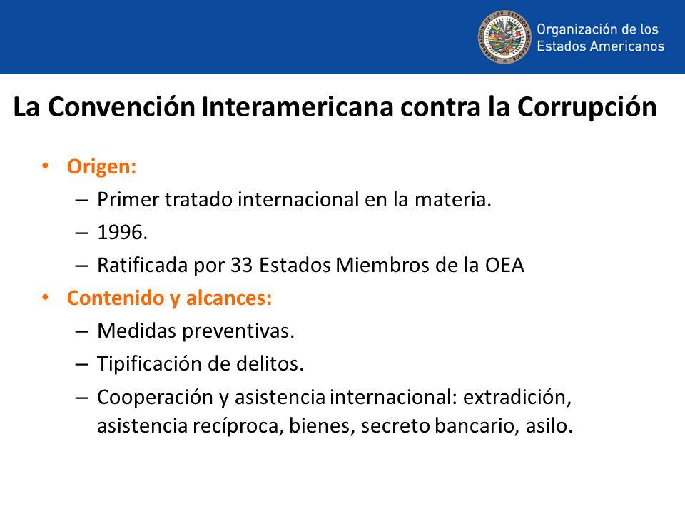 Origen: – Primer tratado internacional en la materia. – 1996. – Ratificada por 33 Estados Miembros de la OEA Contenido y alcances: – Medidas preventiv