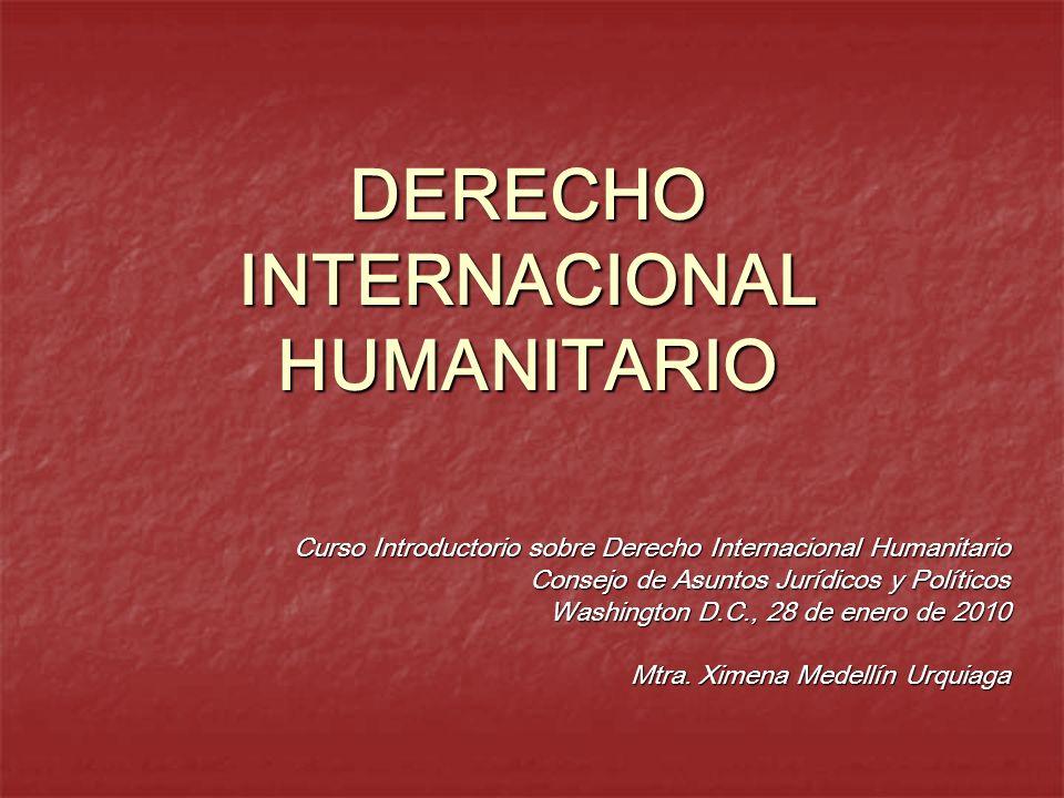 DERECHO INTERNACIONAL HUMANITARIO Curso Introductorio sobre Derecho Internacional Humanitario Consejo de Asuntos Jurídicos y Políticos Washington D.C.