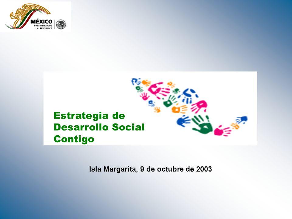 Estrategia de Desarrollo Social Contigo Isla Margarita, 9 de octubre de 2003