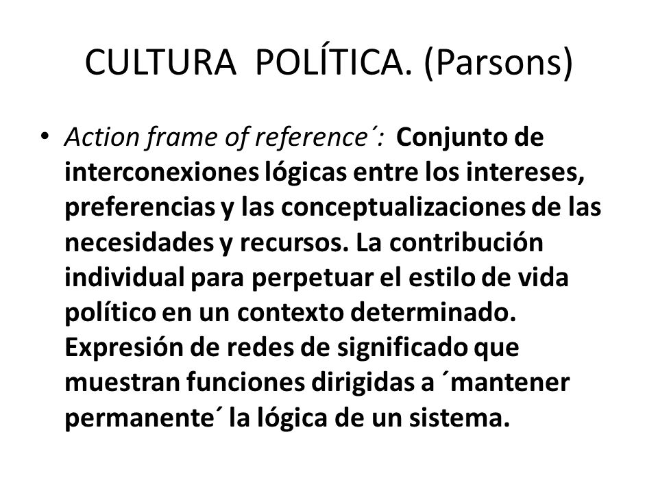 CULTURA POLÍTICA.