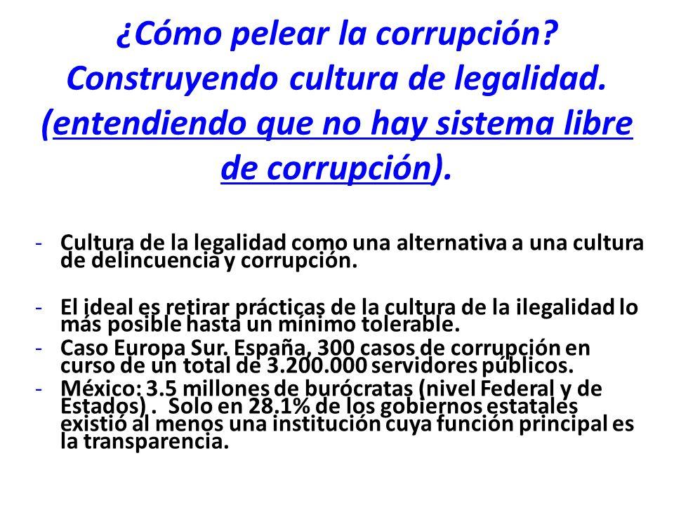 ¿Cómo pelear la corrupción. Construyendo cultura de legalidad.