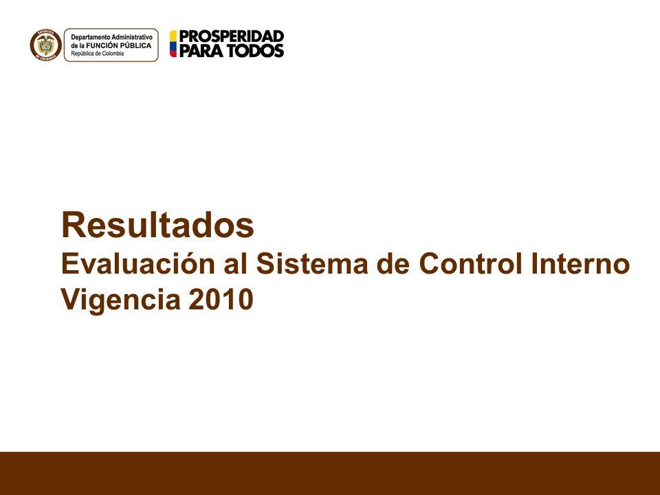 Resultados Evaluación al Sistema de Control Interno Vigencia 2010