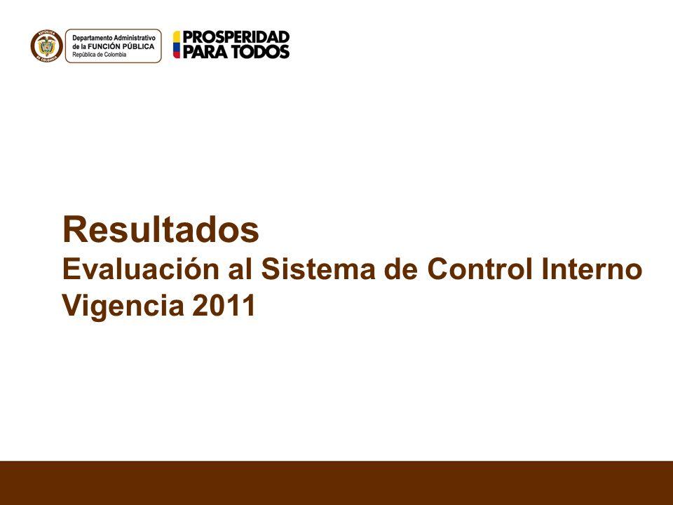 Resultados Evaluación al Sistema de Control Interno Vigencia 2011