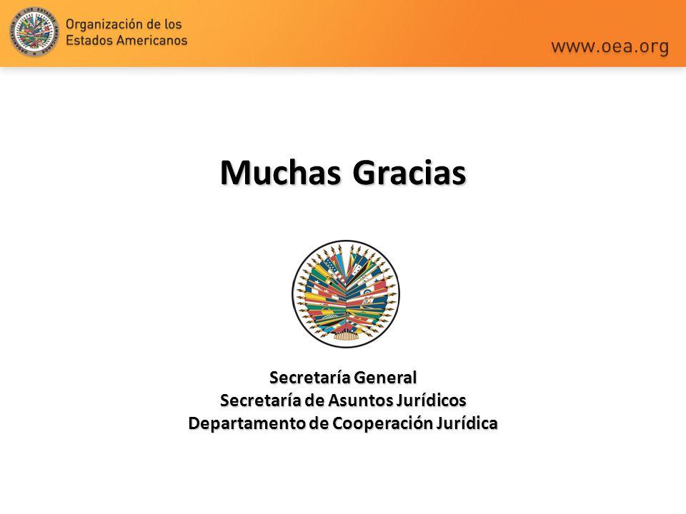 Muchas Gracias Secretaría General Secretaría de Asuntos Jurídicos Departamento de Cooperación Jurídica