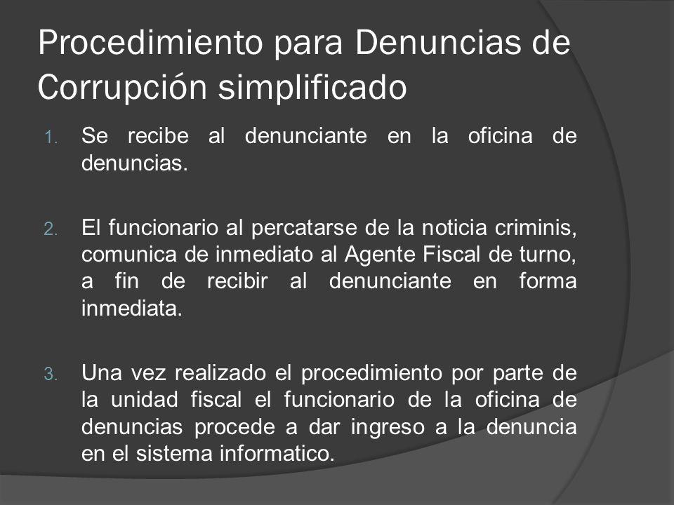 Procedimiento para Denuncias de Corrupción simplificado 1.