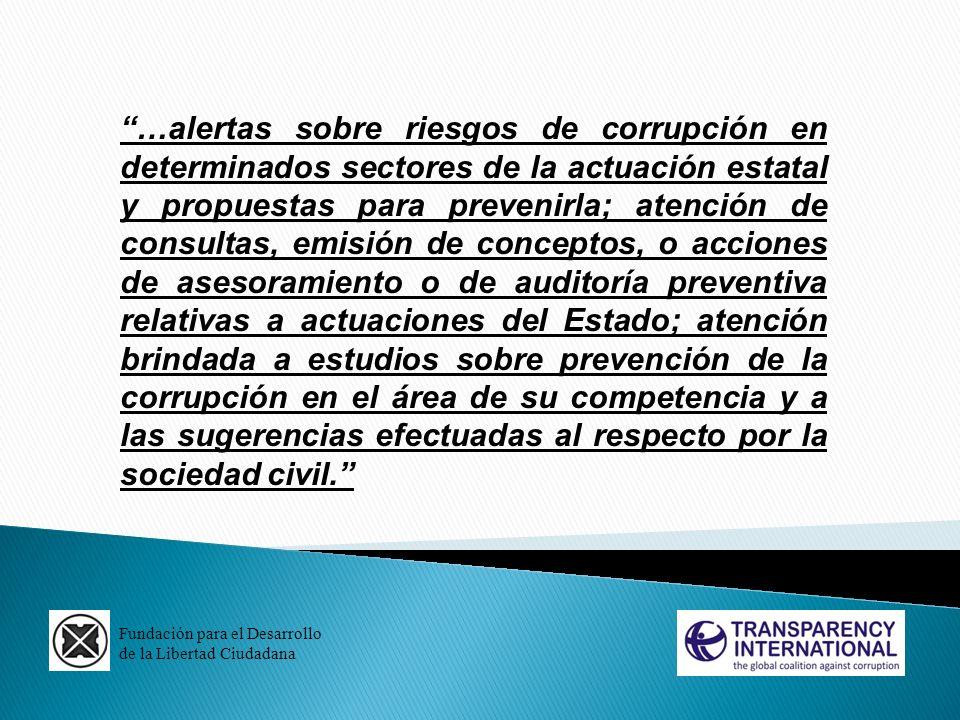 Fundación para el Desarrollo de la Libertad Ciudadana …alertas sobre riesgos de corrupción en determinados sectores de la actuación estatal y propuest