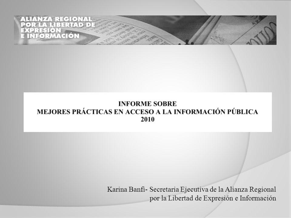 Karina Banfi- Secretaria Ejecutiva de la Alianza Regional por la Libertad de Expresión e Información