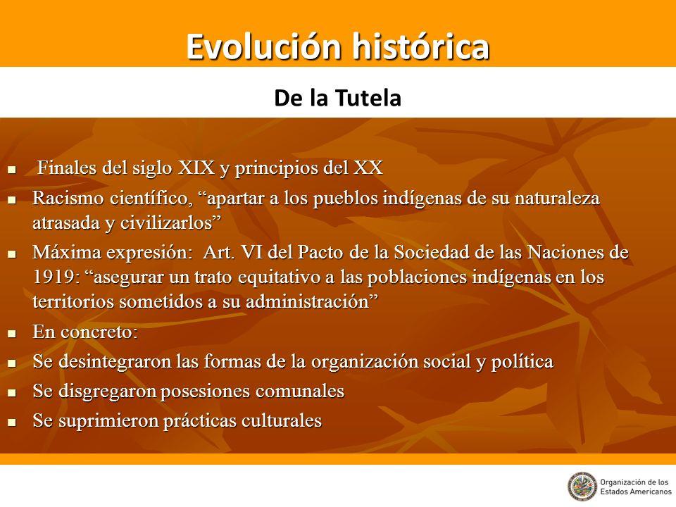 Finales del siglo XIX y principios del XX Finales del siglo XIX y principios del XX Racismo científico, apartar a los pueblos indígenas de su naturale