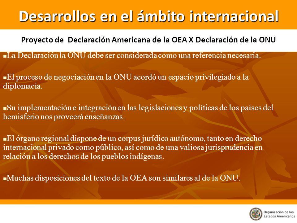 La Declaración la ONU debe ser considerada como una referencia necesaria. El proceso de negociación en la ONU acordó un espacio privilegiado a la dipl