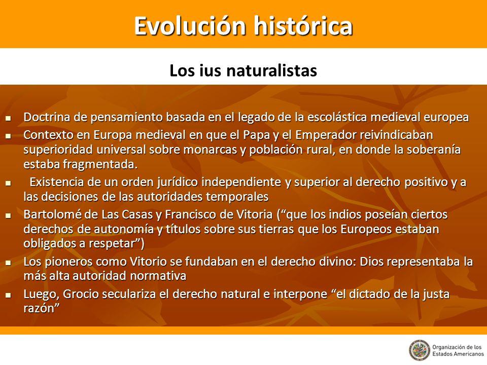 Los ius naturalistas de la época rechazan el título por descubrimiento sobre las tierras habitadas.
