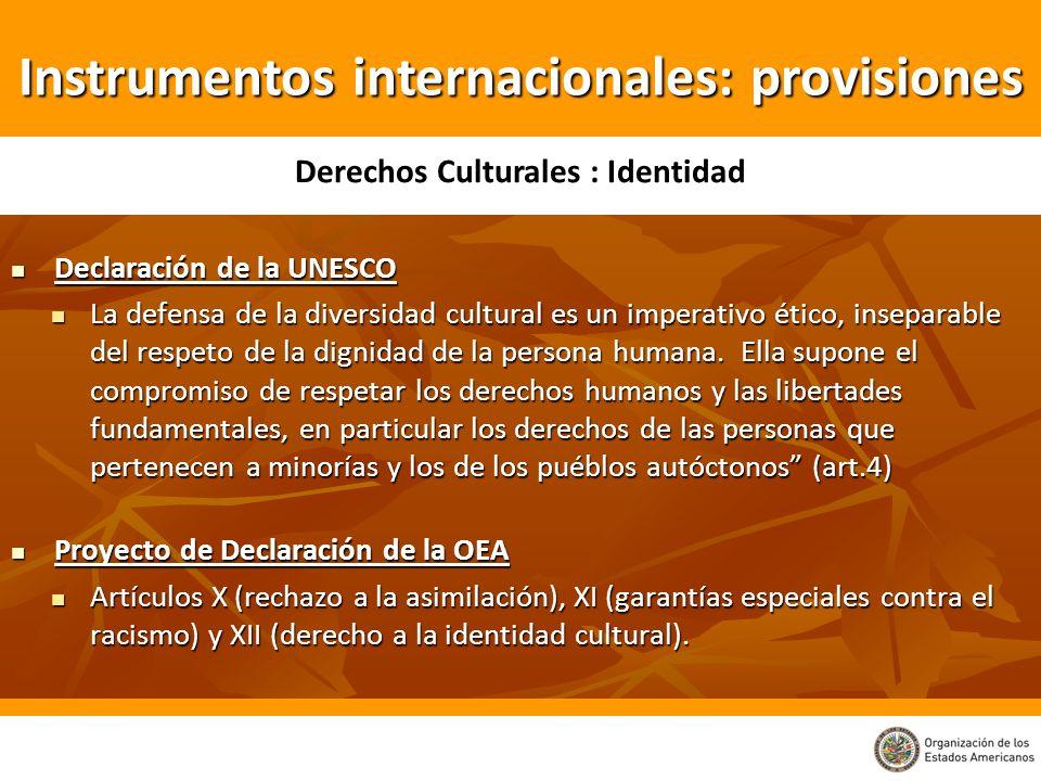 Declaración de la UNESCO Declaración de la UNESCO La defensa de la diversidad cultural es un imperativo ético, inseparable del respeto de la dignidad