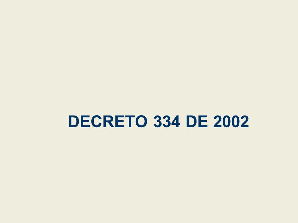 DECRETO 334 DE 2002