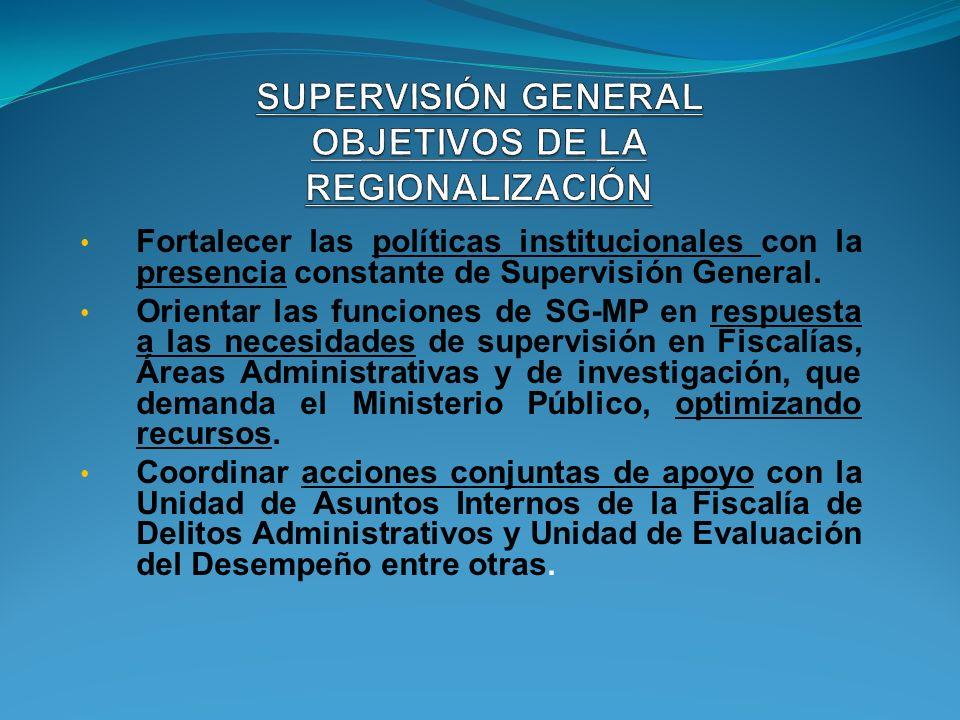 PROYECTO DE FORTALECIMIENTO DE SEDE CENTRAL SUPERVISORA GENERAL Agencia No.1 de Investigación 1 Supervisor 3 Auxiliares de Supervision Agencia No.1 de