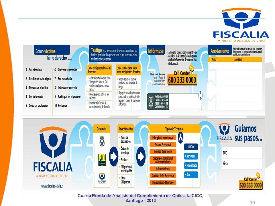 10 Cuarta Ronda de Análisis del Cumplimiento de Chile a la CICC, Santiago - 2013