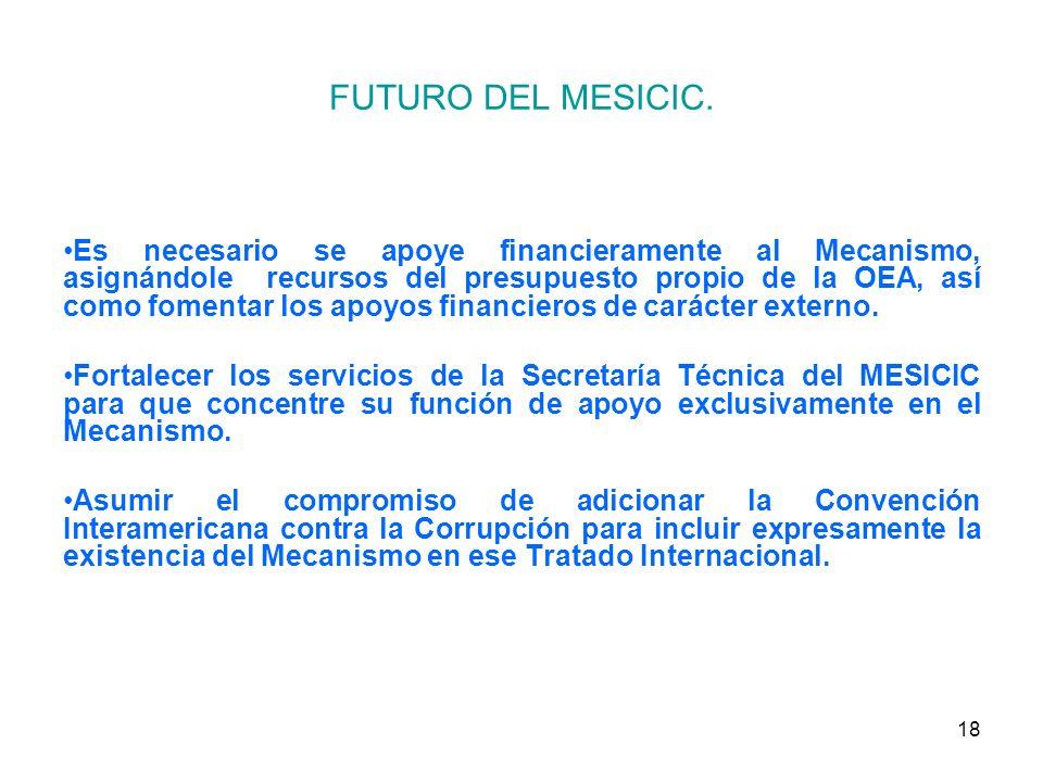 18 FUTURO DEL MESICIC.