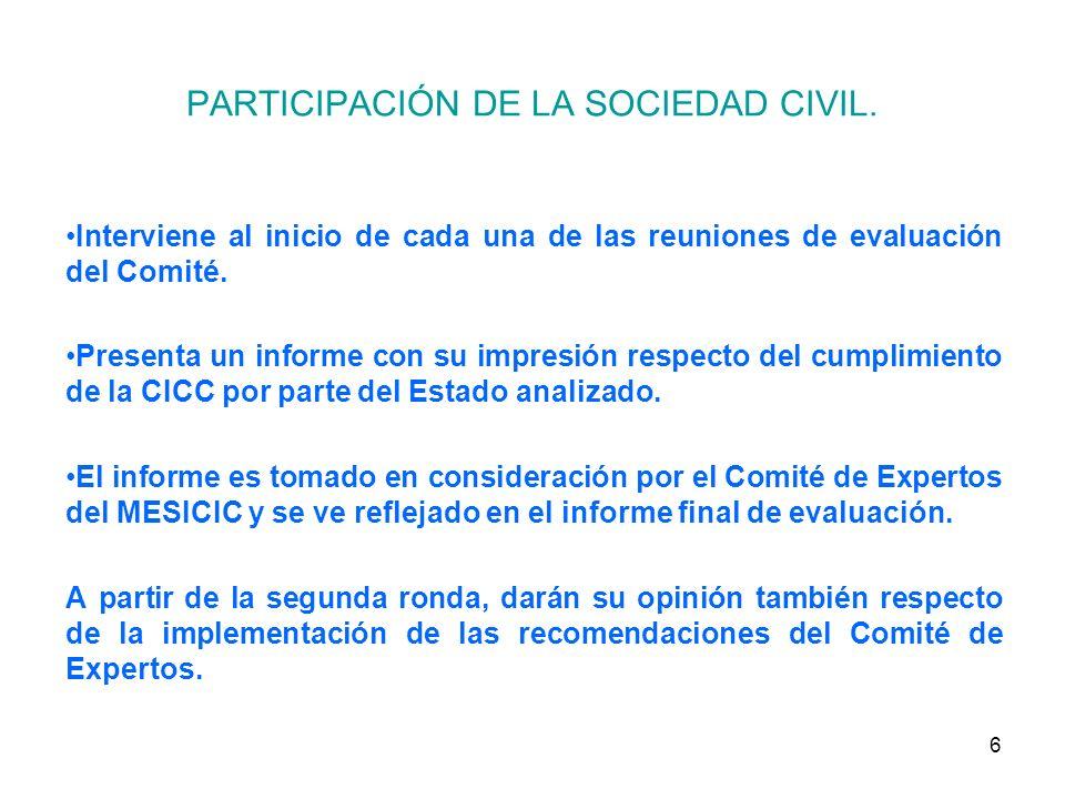 6 PARTICIPACIÓN DE LA SOCIEDAD CIVIL.