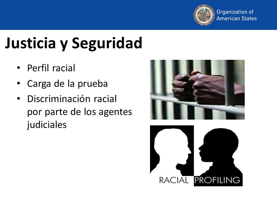 Justicia y Seguridad Perfil racial Carga de la prueba Discriminación racial por parte de los agentes judiciales