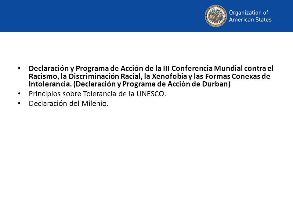 Declaración y Programa de Acción de la III Conferencia Mundial contra el Racismo, la Discriminación Racial, la Xenofobia y las Formas Conexas de Intol