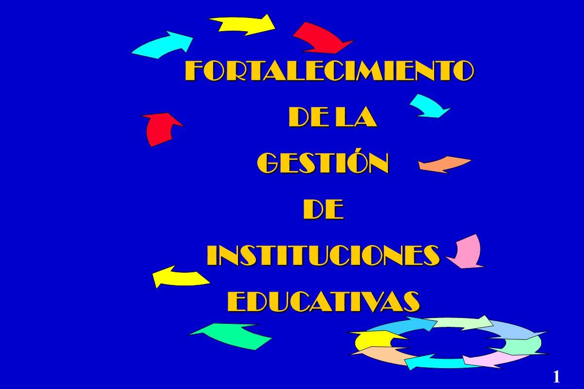 FORTALECIMIENTO DE LA DE LAGESTIÓNDE INSTITUCIONES EDUCATIVAS 1