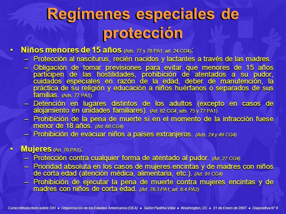 Curso Introductorio sobre DIH Organización de los Estados Americanos (OEA) Salón Padilha Vidal Washington, DC 31 de Enero de 2007 Diapositiva N° 8 Reg