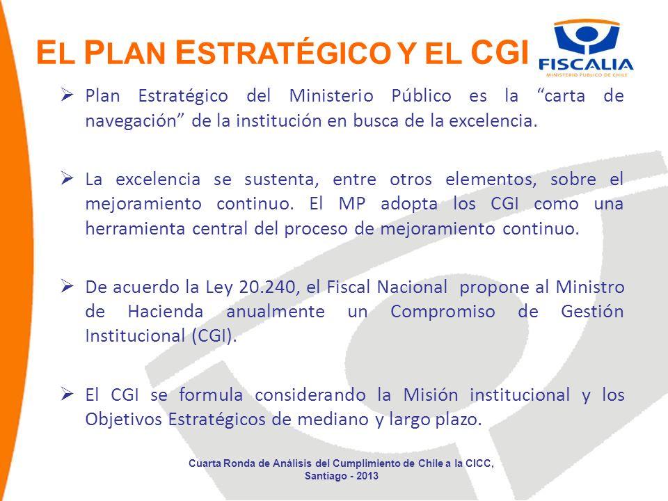 Plan Estratégico del Ministerio Público es la carta de navegación de la institución en busca de la excelencia. La excelencia se sustenta, entre otros