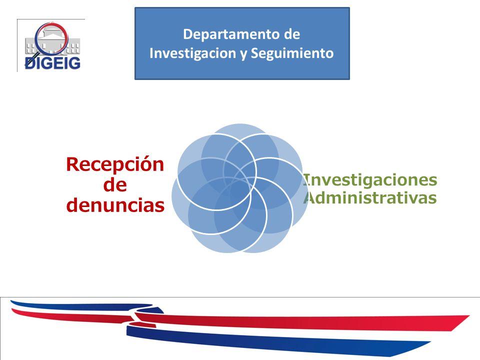 Investigaciones Administrativas Recepción de denuncias Departamento de Investigacion y Seguimiento