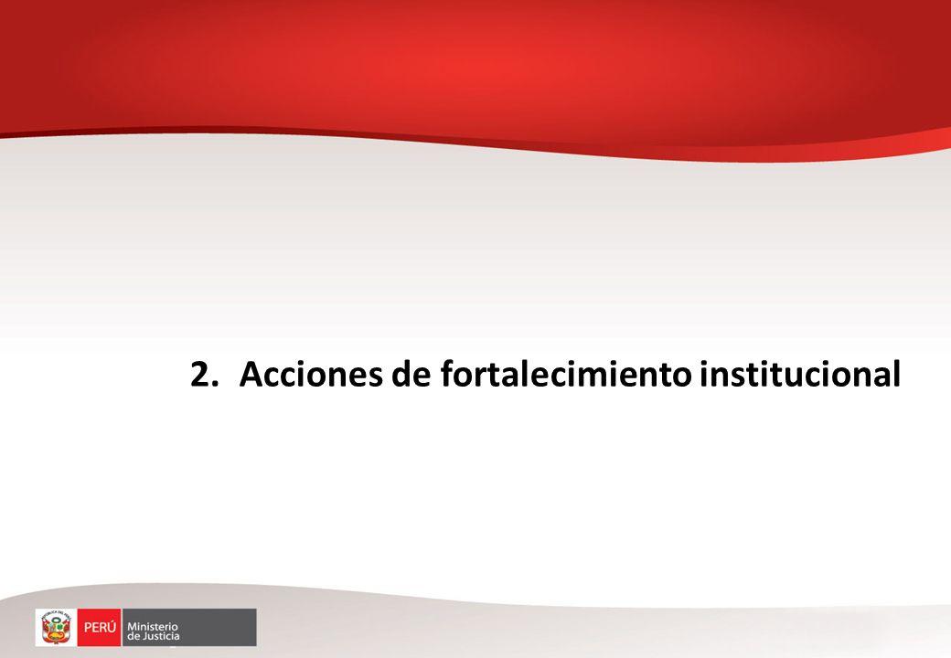 2.Acciones de fortalecimiento institucional