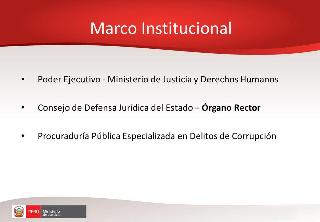 Poder Ejecutivo - Ministerio de Justicia y Derechos Humanos Consejo de Defensa Jurídica del Estado – Órgano Rector Procuraduría Pública Especializada