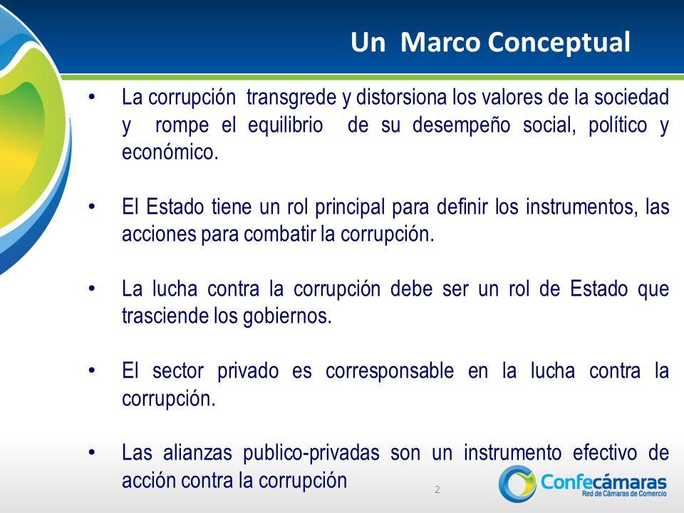 La corrupción transgrede y distorsiona los valores de la sociedad y rompe el equilibrio de su desempeño social, político y económico.