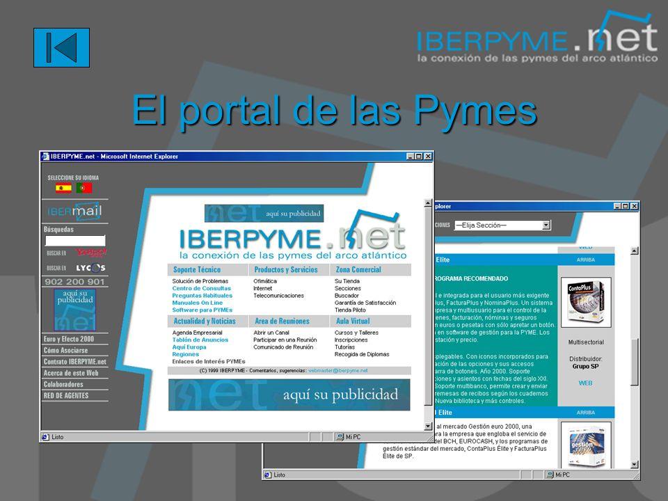 Portal de acceso a información en tiempo real: noticias, reuniones, servicios de terceras partes.. Acceso a servicios avanzados: Banca Electrónica, Bu