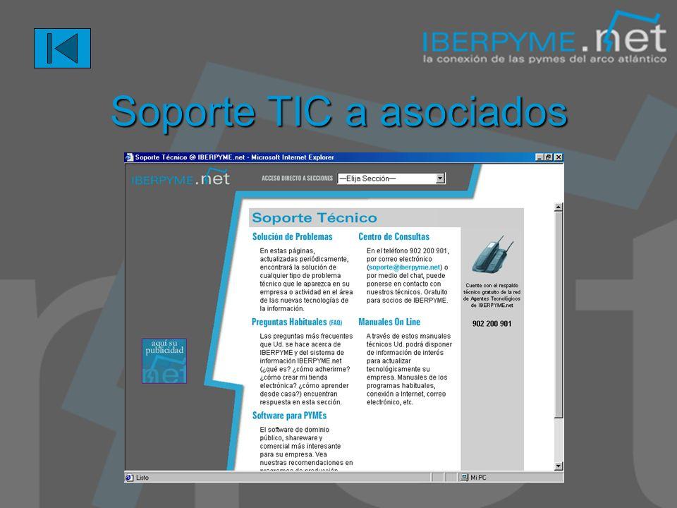 Soporte TIC a asociados