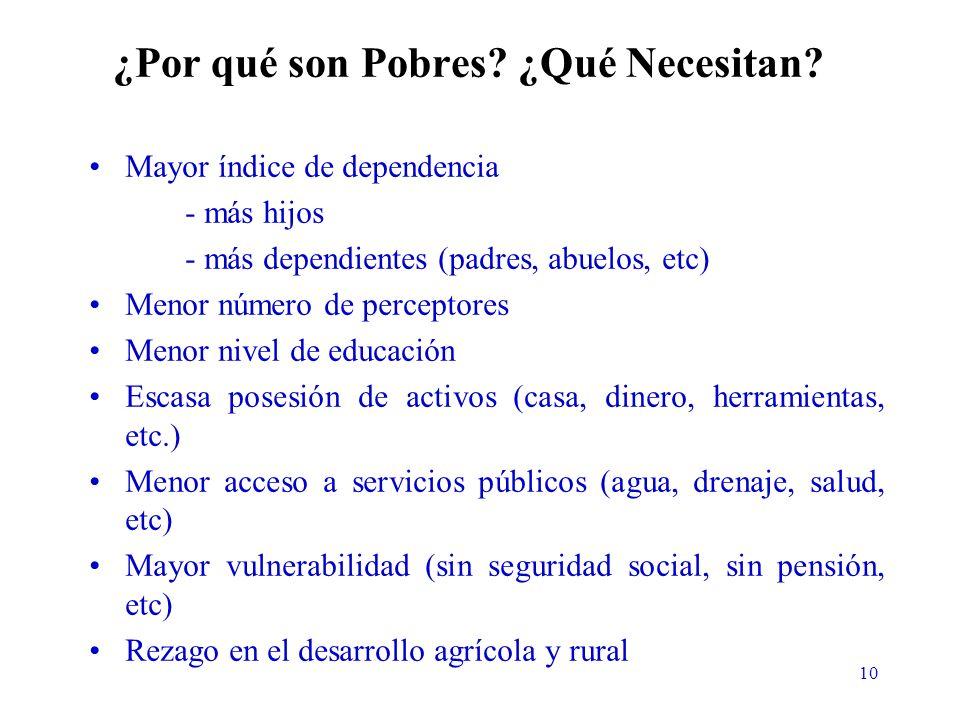 10 ¿Por qué son Pobres. ¿Qué Necesitan.