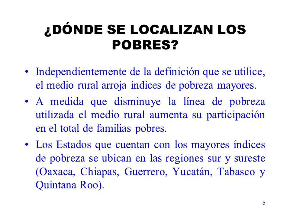 6 ¿DÓNDE SE LOCALIZAN LOS POBRES.