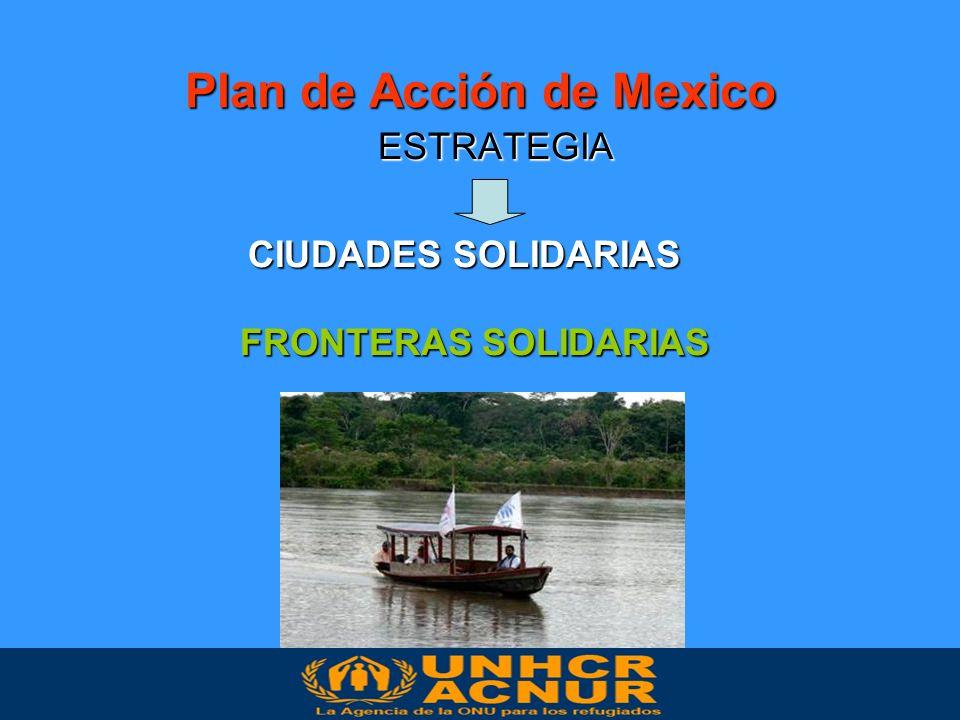 Plan de Acción de Mexico ESTRATEGIA CIUDADES SOLIDARIAS FRONTERAS SOLIDARIAS FRONTERAS SOLIDARIAS