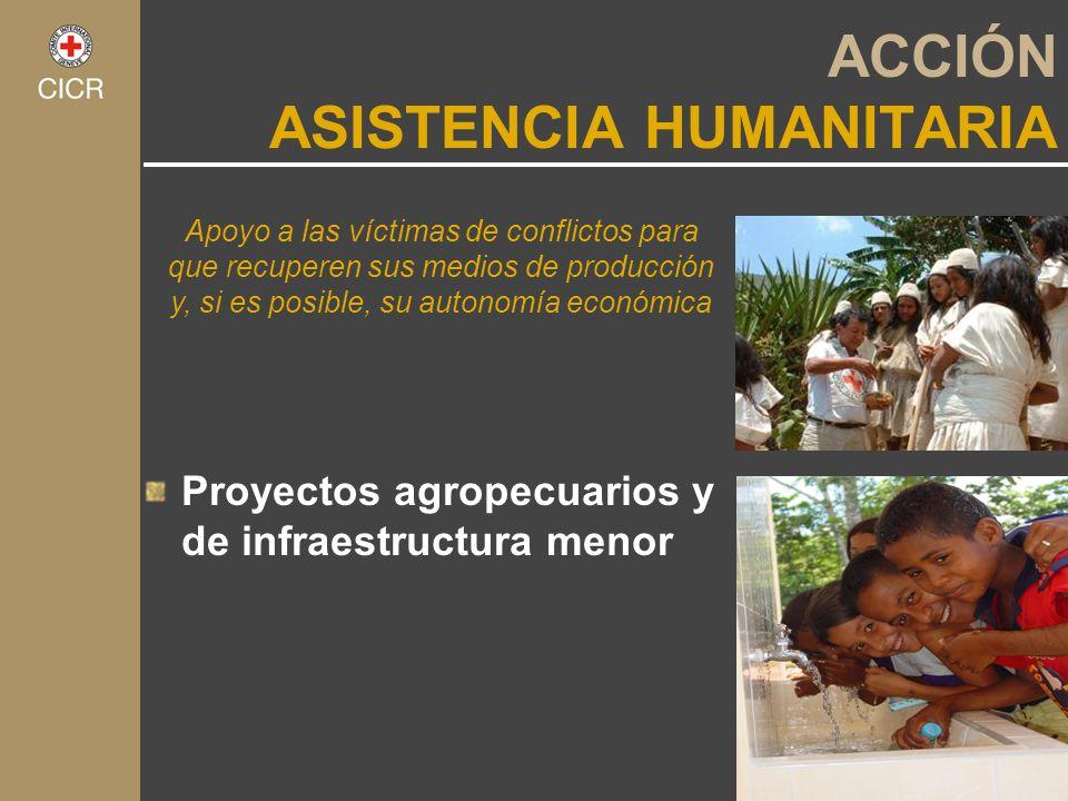 Proyectos agropecuarios y de infraestructura menor Apoyo a las víctimas de conflictos para que recuperen sus medios de producción y, si es posible, su