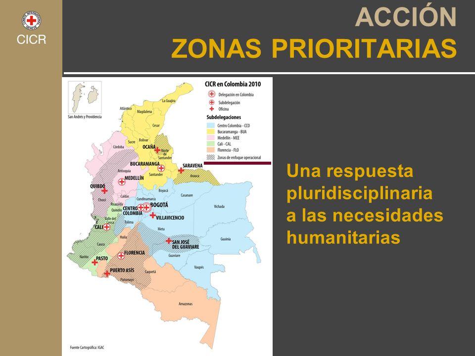 Una respuesta pluridisciplinaria a las necesidades humanitarias ACCIÓN ZONAS PRIORITARIAS