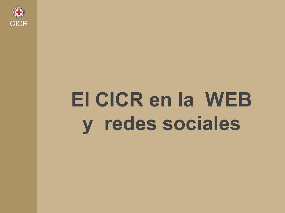 El CICR en la WEB y redes sociales